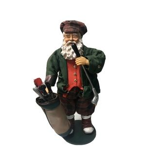 Clothtique Possible Dreams Santa Claus w Golf Bag